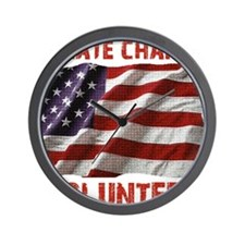 Create Change Volunteer American Flag Wall Clock
