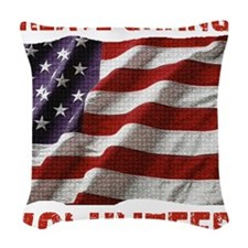 Create Change Volunteer Americ Woven Throw Pillow
