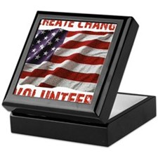 Create Change Volunteer American Flag Keepsake Box