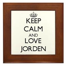 Keep Calm and Love Jorden Framed Tile