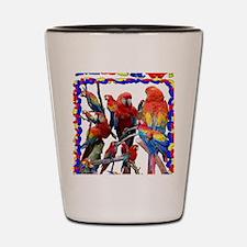 Macaw Mosaic Shot Glass