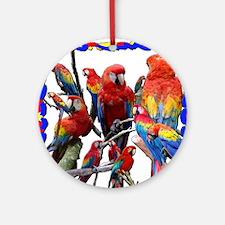 Macaw Mosaic Round Ornament