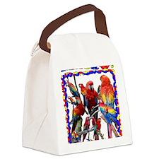 Macaw Mosaic Canvas Lunch Bag
