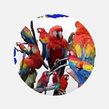 "Macaw Mosaic 3.5"" Button"