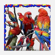Macaw Mosaic Tile Coaster
