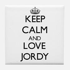 Keep Calm and Love Jordy Tile Coaster