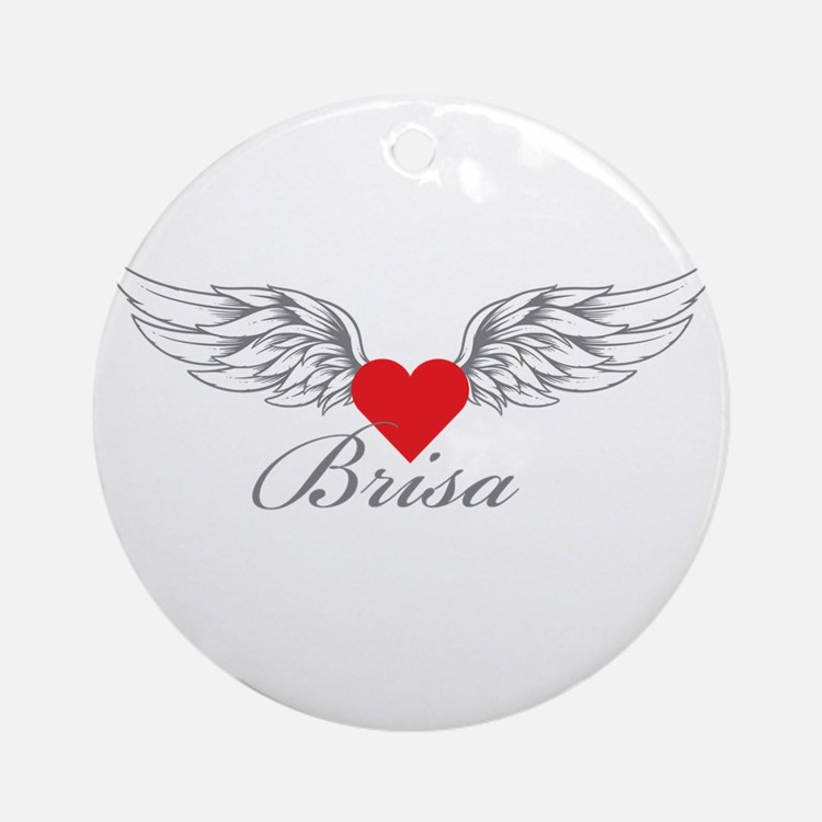 Angel Wings Brisa Ornament (Round)