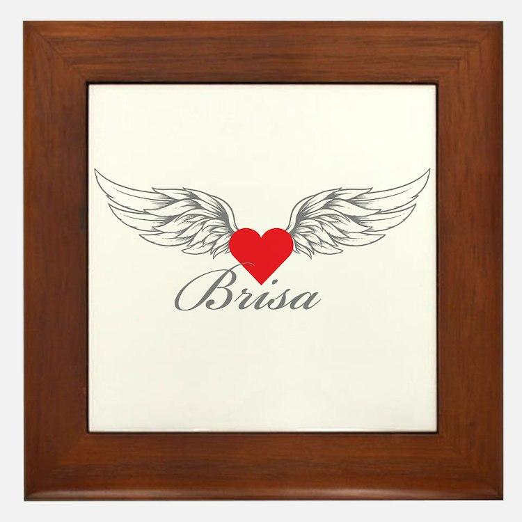 Angel Wings Brisa Framed Tile