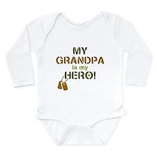 Dog Tag Hero Grandpa Onesie Romper Suit