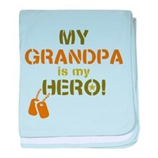 Dog Tag Hero Grandpa baby blanket