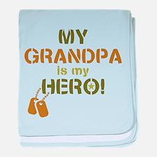 Dog Tag Hero Grandpa baby blanket