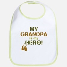 Dog Tag Hero Grandpa Bib
