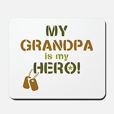 Dog Tag Hero Grandpa Mousepad