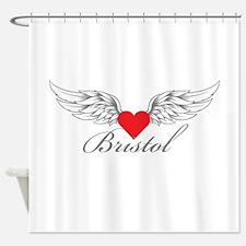 Angel Wings Bristol Shower Curtain