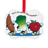Veggies Picture Frame Ornaments