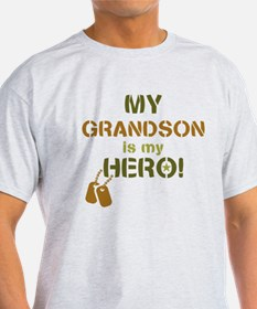 Dog Tag Hero Grandson T-Shirt
