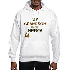 Dog Tag Hero Grandson Hoodie