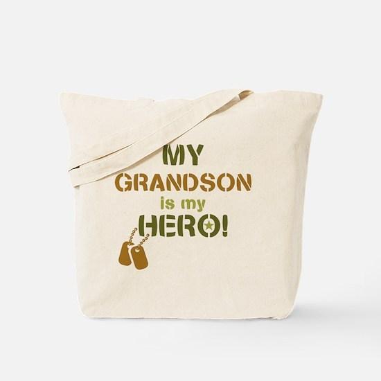 Dog Tag Hero Grandson Tote Bag