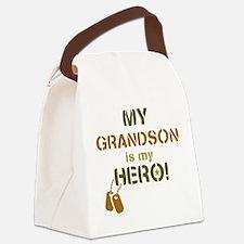 Dog Tag Hero Grandson Canvas Lunch Bag