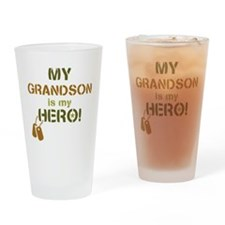 Dog Tag Hero Grandson Drinking Glass