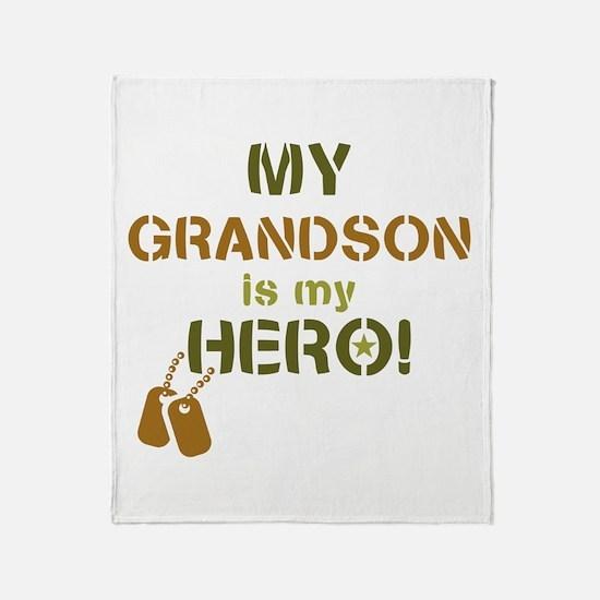 Dog Tag Hero Grandson Throw Blanket