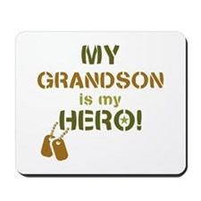 Dog Tag Hero Grandson Mousepad