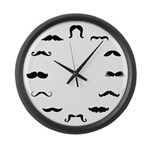 Mustache Large Wall Clock