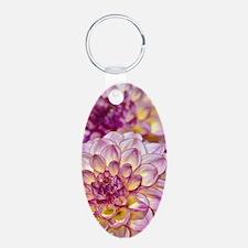 Beautiful pink dahlia flowe Keychains
