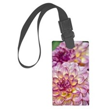 Beautiful pink dahlia flowers Luggage Tag