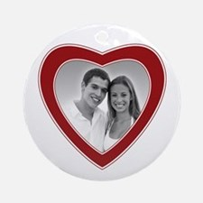 Love Photo Border Ornament (Round)
