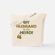 Dog Tag Hero Husband Tote Bag