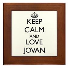 Keep Calm and Love Jovan Framed Tile