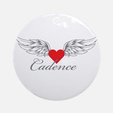 Angel Wings Cadence Ornament (Round)