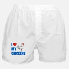 I Love My Chickens Boxer Shorts