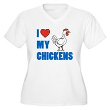 I Love My Chickens Plus Size T-Shirt