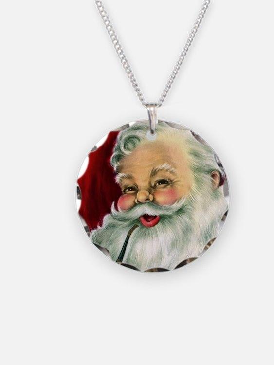 Vintage Santa Claus  Necklace
