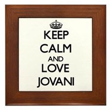 Keep Calm and Love Jovani Framed Tile