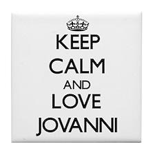 Keep Calm and Love Jovanni Tile Coaster