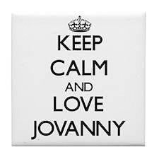 Keep Calm and Love Jovanny Tile Coaster