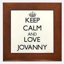Keep Calm and Love Jovanny Framed Tile