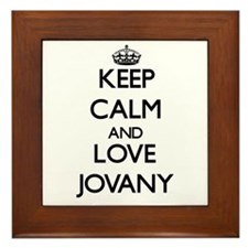 Keep Calm and Love Jovany Framed Tile