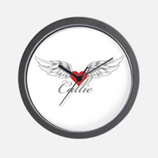 Angel Wings Callie Wall Clock