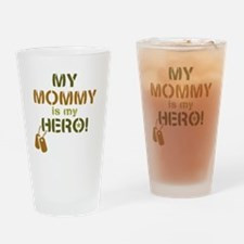 Dog Tag Hero Mommy Drinking Glass