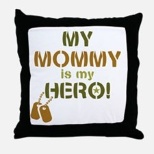 Dog Tag Hero Mommy Throw Pillow