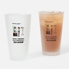 Narcissism or self-esteem Drinking Glass