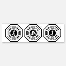 Duathlete_men_notext Bumper Bumper Sticker
