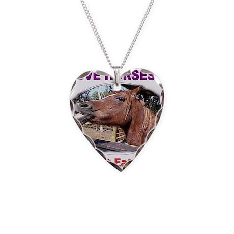 donteathorses1 Necklace Heart Charm