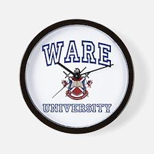 WARE University Wall Clock