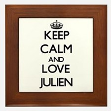 Keep Calm and Love Julien Framed Tile