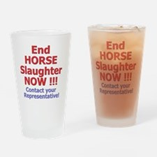 donteathorses2 Drinking Glass
